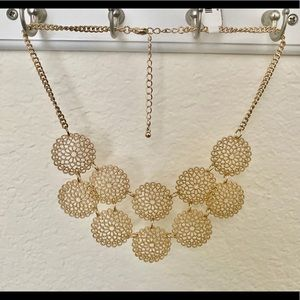 Delicate Gold Statement Necklace
